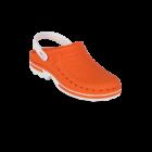 WOCK CLOG 05 Klumpa – Narancs | Fehér – Sterilizálható Munkapapucs (38/39)