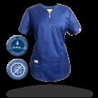 Zafír női felső - MILLAND UNIQUE - Királykék Stretch - Antibakteriális - vízlepergető anyag
