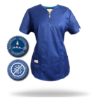 Zafír női felső - MILLAND UNIQUE - Padlizsán Stretch - Antibakteriális - vízlepergető anyag