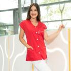 Classic gombos tunika - Piros
