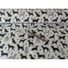 101 kiskutya - Műtős sapka - Fehér alapon fekete kutya mintás