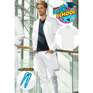 Suli Szett 6 - Tamás köpeny + Galléros fehér póló + David nadrág + Ajándék nyakpánt
