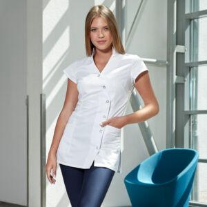 Leila gombos tunika - Fehér