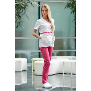 Milano Szett - Medison White/Magenta felső + Magenta pamutstretch nadrág