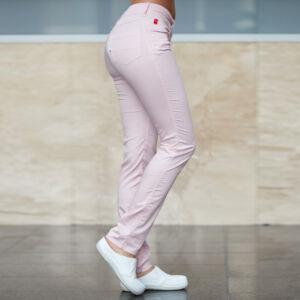 Rózsaszín pamutsztreccs munkanadrág (Tina)