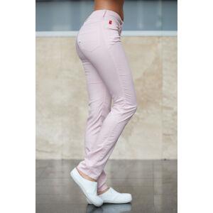 Rózsaszín pamutsztreccs munkanadrág (Tina) (32)
