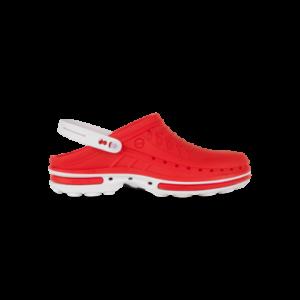 WOCK CLOG 17 Klumpa – Piros   Fehér –Sterilizálható Munkapapucs (38/39)