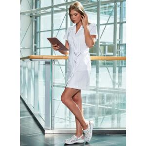 Zoé ruha - MILLAND UNIQUE - Fehér Stretch - Rövidujjú
