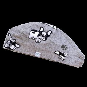 Francia Bulldog mintás Műtős sapka