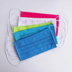 5 Mosható textil maszk - AKCIÓS 5 db-os CSOMAG - vegyes szín