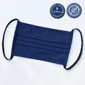 Mosható textil maszk Sötétkék ANTIBAKTERIÁLIS anyagból