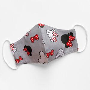 Minnie mintás textil maszk - Állítható laposgumival - Kétrétegű
