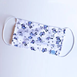 Mosható textil szájmaszk - Blöki mintás