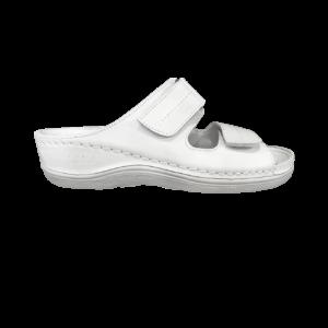MKT6 White - MILLAND - Női Bőr Papucs