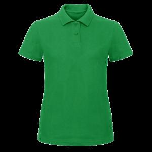 Teniszpóló Benettonzöld Női