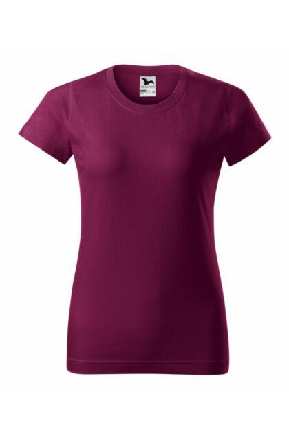 Basic - Női póló -RU- Vörösbor szín