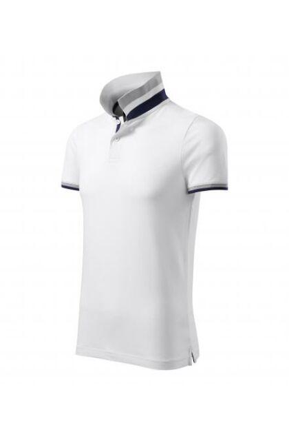 Galléros férfi póló - COLLAR UP256 Fehér (XL)