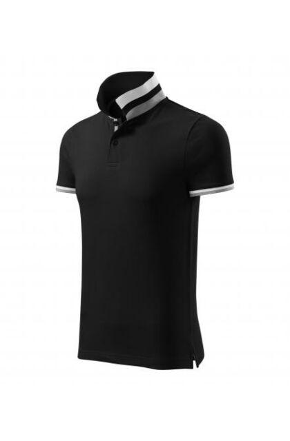 Galléros férfi póló - COLLAR UP256 01 BLACK (S)