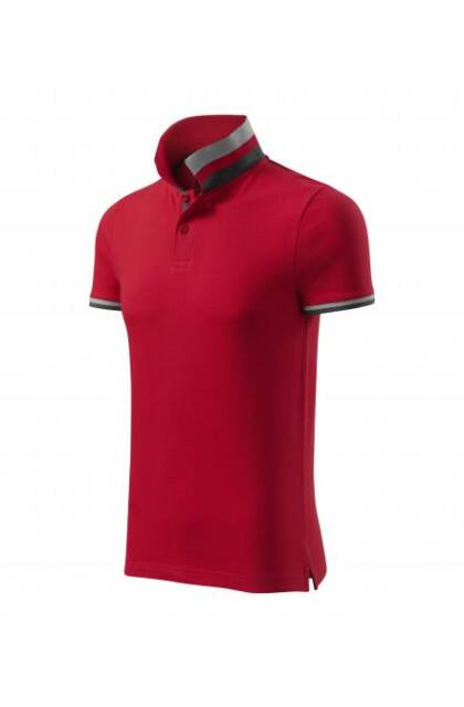 Galléros férfi póló - COLLAR UP257 RED (M)