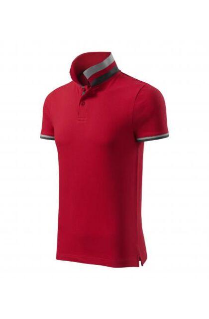 Galléros férfi póló - COLLAR UP257 RED (XL)