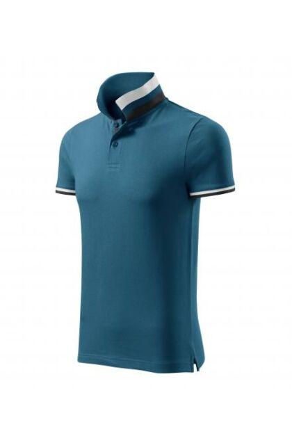 Galléros férfi póló - COLLAR UP261 BLUE (XL)