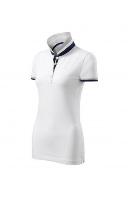 Galléros póló női - COLLAR UP 257 Fehér (L)
