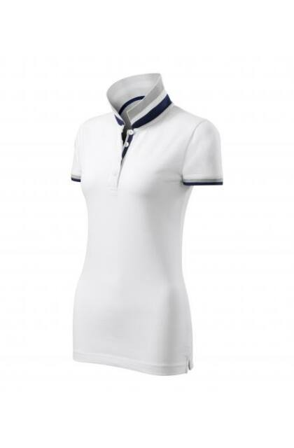 Galléros póló női - COLLAR UP 257 Fehér (S)
