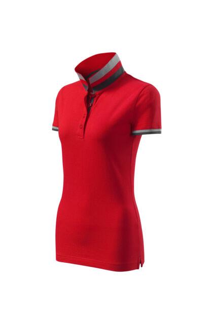 Galléros póló női - COLLAR UP 257 71 Red (S)
