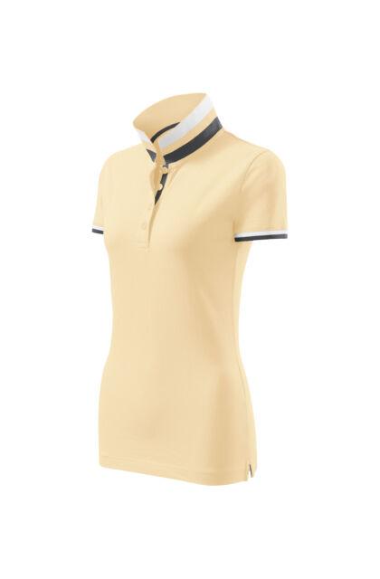 Galléros póló női - COLLAR UP 257 85 Bourbon Vanília (S)