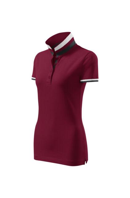 Galléros póló női - COLLAR UP 257 86 Garnet (S)