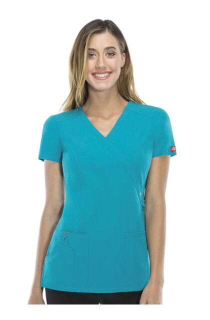 Dickies Xtreme Stretch Tealblue - Pávakék színű női felső