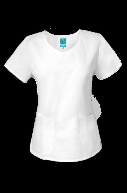 Lisa - MILLAND BASIC - női  V kivágású tunika White (S)
