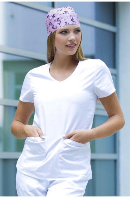 Lisa - MILLAND BASIC - női  V kivágású tunika White