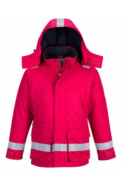 FR59 ANTISZTATIKUS Kabát kapucnival - Piros