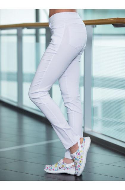 Savannah Super-stretch munkanadrág Fehér +8 CM szárhosszal
