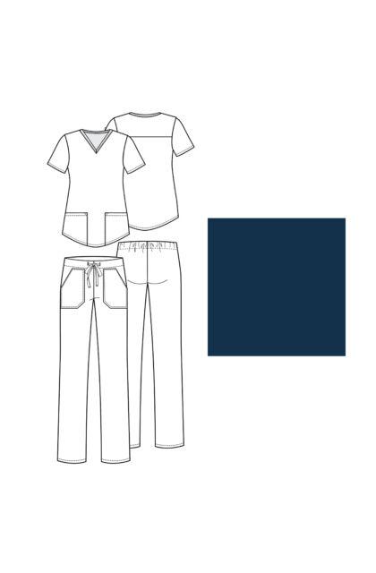 V-nyakú Női Felső + Húzózsinóros nadrág | Szett | VT 503C