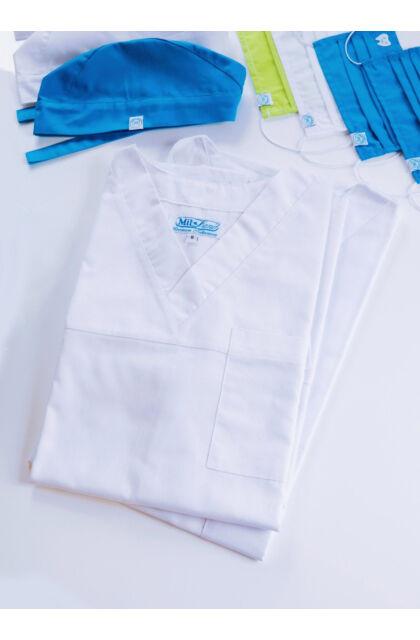 Műtős unisex felső White (XL)