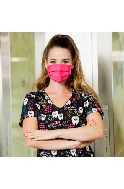 Mosható textil maszk Magenta