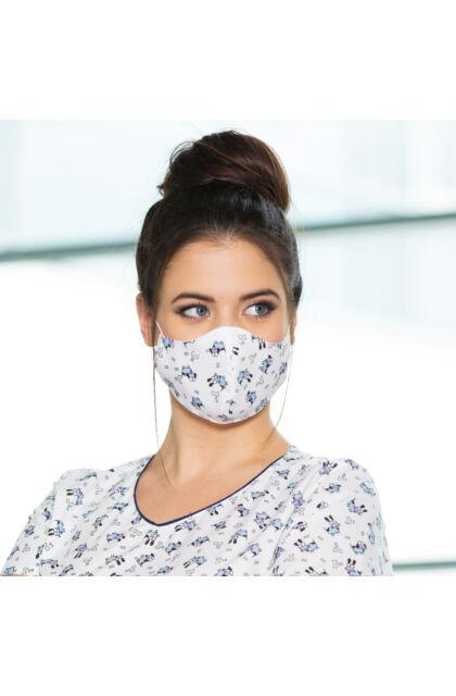 Blöki Mintás textil maszk - Állítható gumipánttal - Kétrétegű