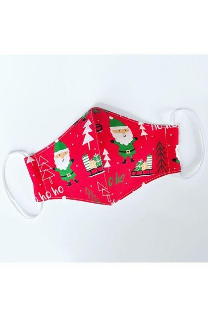 Dear Santa Claus! - Karácsonyi mintás maszk - unisex - kétrétegű - állítható gumipánt méret