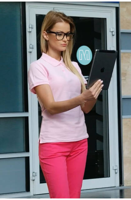 Teniszpóló Pink Női