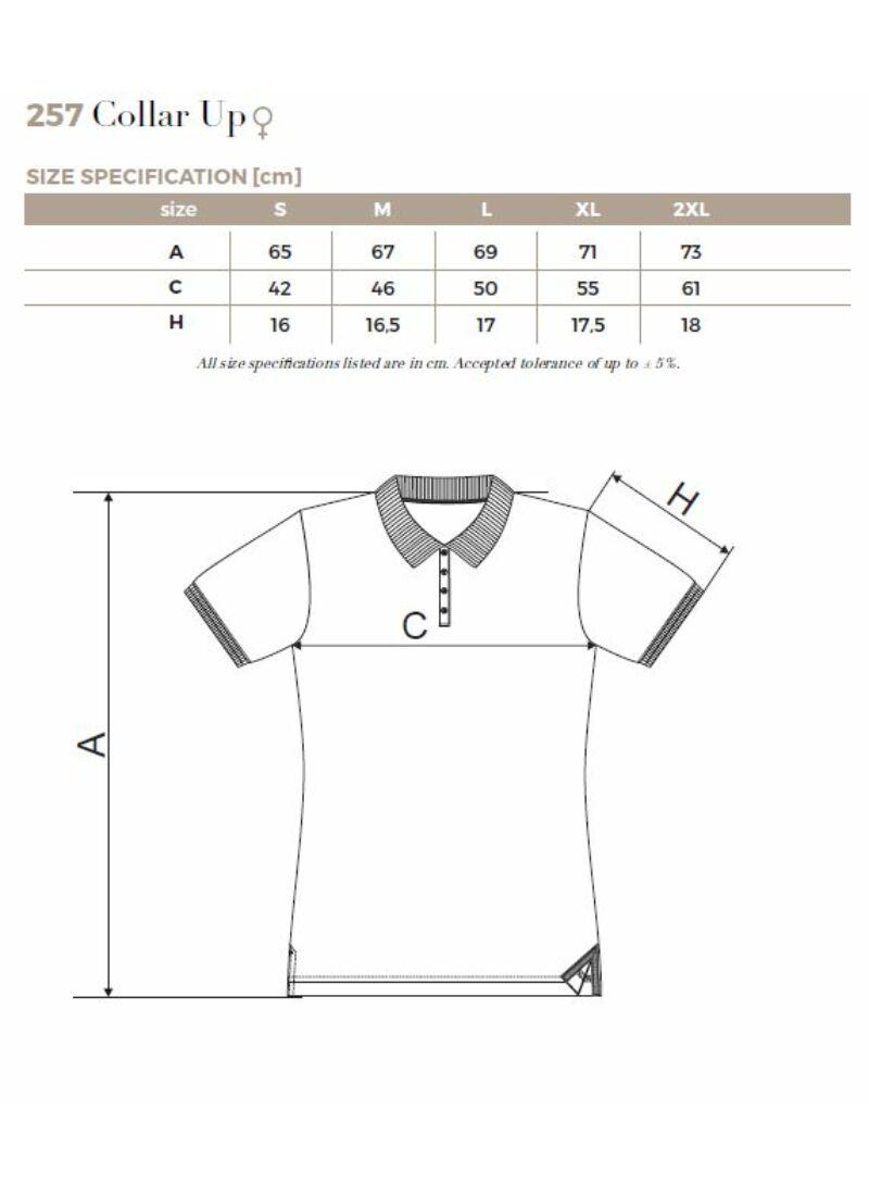 Galléros póló női - COLLAR UP 257 Fehér (XL) - Gyógyszerész - Orvos ... 85df06d46a